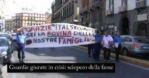 corteo guardie giurate a Napoli